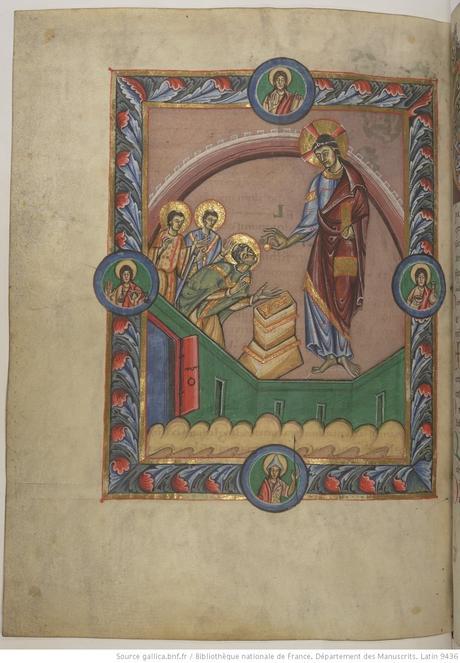 Communion de St Denis Missel de st denis compose a St Vaast d'Arras Latin 9436 fol 106v gallica