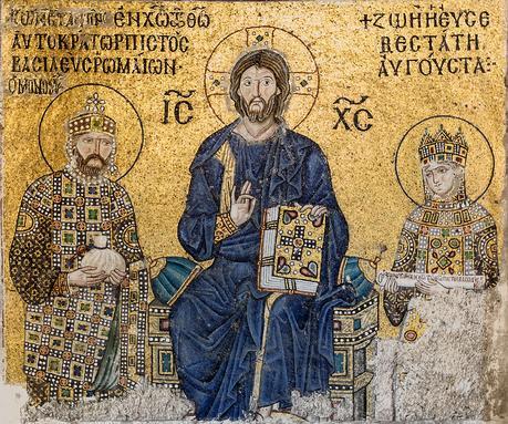 Christ pantocrator Empress_Zoe_mosaic_Hagia_Sophia
