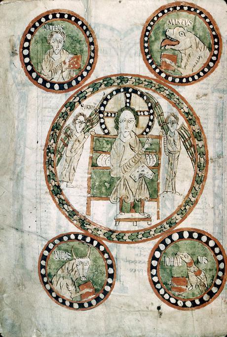 Evangeliaire de Gundohinus 754-55 Autun ms3 fol12v