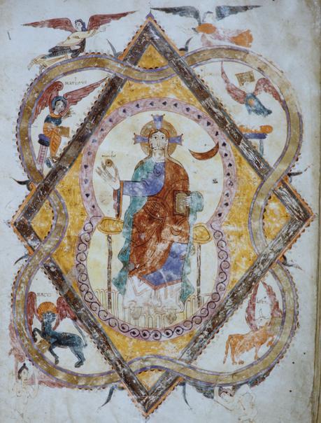 Beatus de gerone 975 Folio 2r. Cristo_en_majestad_