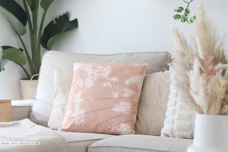 DIY coussin tie and dye