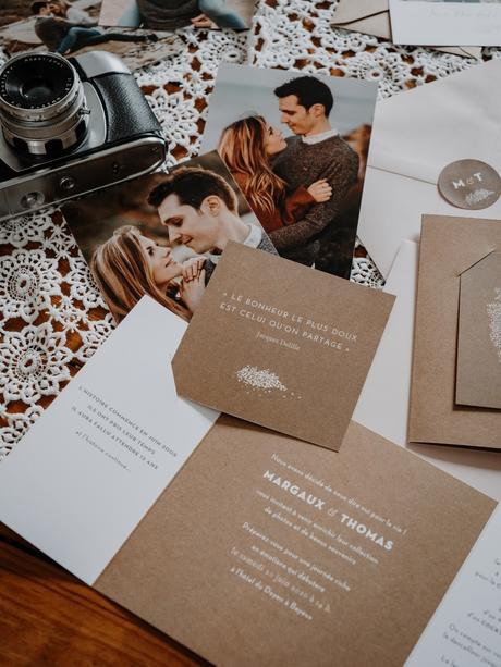 Notre faire-part de mariage avec Atelier Rosemood