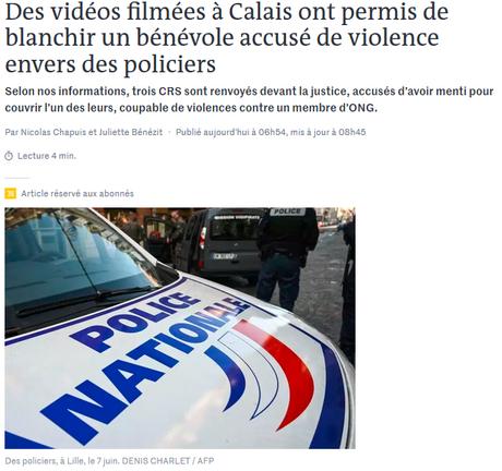 Après le #racismedanslapolice et les #violencespolicières, encore un  cas d'#acab : le faux témoignage ? #Calais