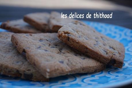 Biscuits farine de châtaigne et pépites de chocolat