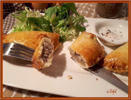 Pierojki, petits croissants farcis boeuf et pommes de terre