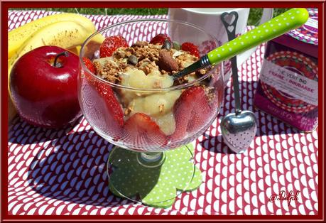 Compote rhubarbe, pommes et banane