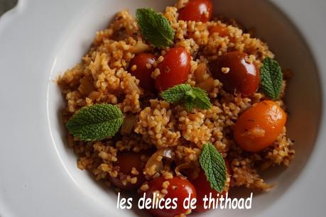 boulgour à la tomate et à la menthe