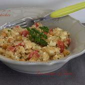 salade de quinoa et pois chiches rotis - Les recettes de Jacre/En toute simplicité