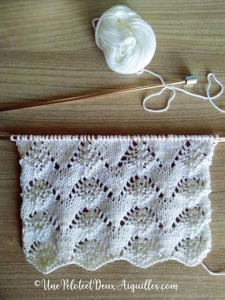 Tricoter un point à sommets ajourés (et un châle droit)