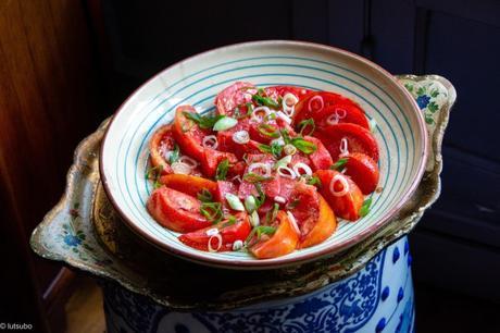 Soleil levant – Salade de tomate japonisante