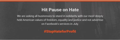 Aux USA,  une campagne contre Facebook pour lutter contre le #racisme…   Et en France ? #StopHateForProfit