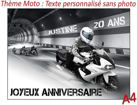 decoration moto anniversaire
