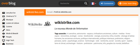 #Overblog cautionne l' #antisémitisme de #wikistrike  (Force @stopHateMoney)