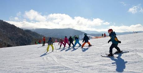 Ski en famille a la montagne