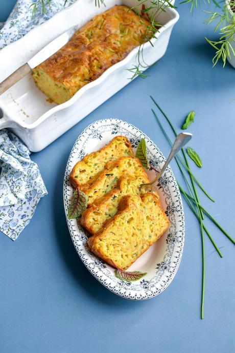 Cake salé courgette et carotte  { pour vos pique-nique estivaux ! }