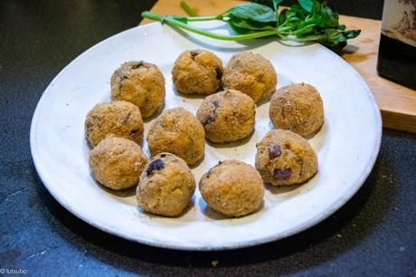 Boulettes végé – Polpette aux pois chiches et à l'aubergine