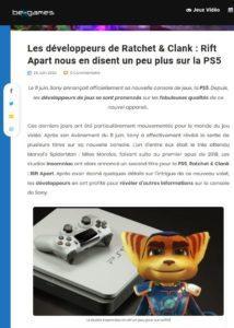 Les développeurs de Ratchet & Clank : Rift Apart nous en disent un peu plus sur la PS5