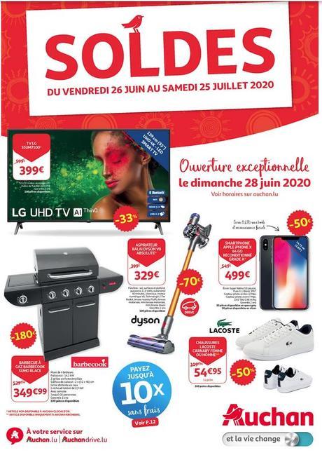 Flyer Soldes été 2020 Auchan Luxembourg