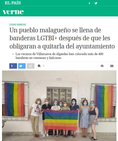 Fier de vous, les gens… Trophée de la meilleure réponse à l' #homophobie : Villanueva de Algaidas #PRIDE2020