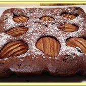 Moelleux chocolat mascarpone aux poires - Oh, la gourmande..
