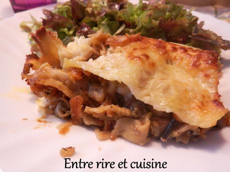 Lasagnes poulet - aubergines