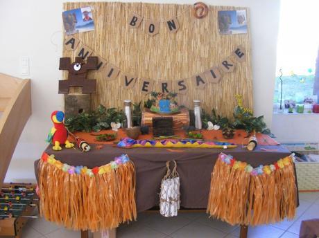 decoration anniversaire koh lanta