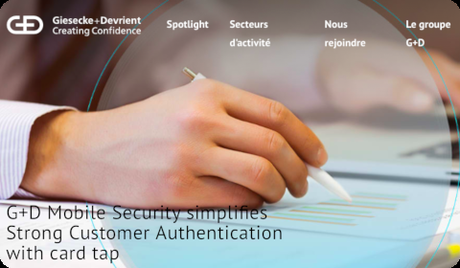 G+D Mobile Security simplifies Strong Customer Authentication with card tap
