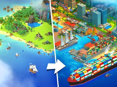 Télécharger Gratuit Sea Port: Jeu de Simulation D'Empire Maritime APK MOD (Astuce) 2