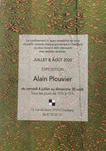 Galerie Alain Plouvier à Chédigny (proche de Loches) 4 Juillet au 30 Août 2020