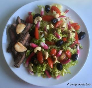 La salade de boeuf mariné de Cyril Lignac