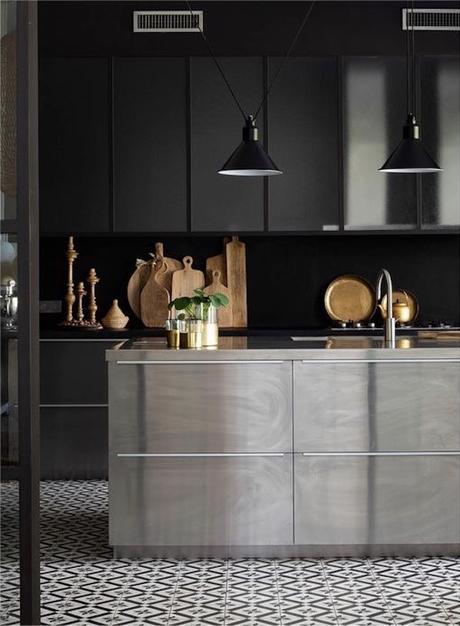 manoir français rénove cuisine minimaliste design - blog déco - clemaroundthecorner