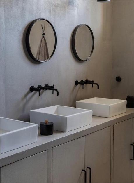 manoir français rénovation salle de bain design - blog déco - clematc