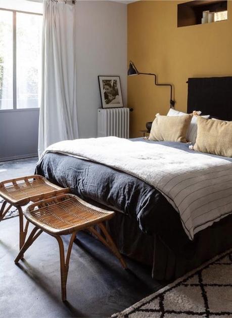 manoir français chambre design - blog déco - clemaroundthecorner