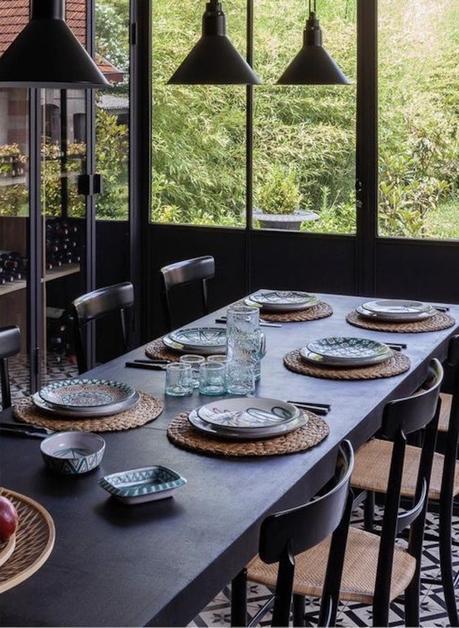 salle à manger verrière tendance jardin - blog déco - clematc