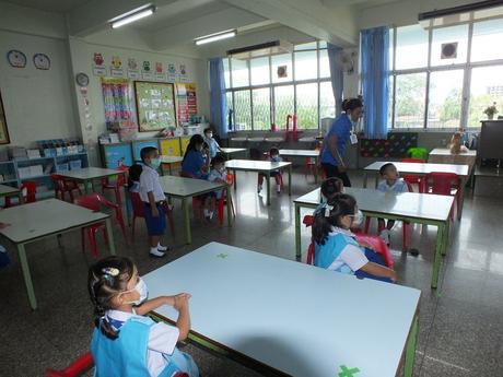 1 juillet 2020. Udonthani : Rentrée scolaire pour Mélanie