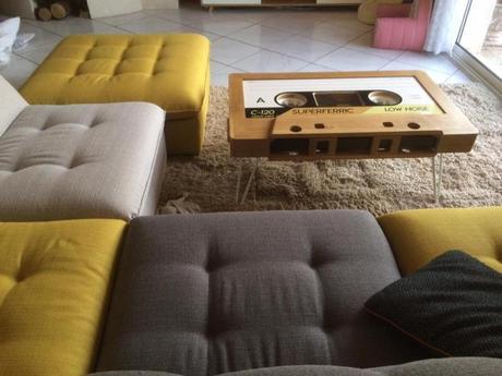 Table cassette en bois