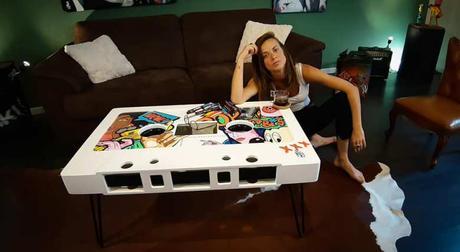 Les tables cassettes Ango, l'art rencontre la rétro