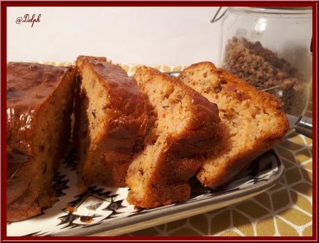Cake aux poivrons marinés, jambon et cheddar
