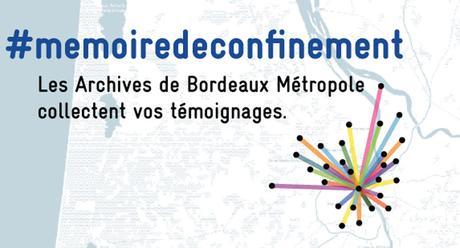 Mémoire du confinement: remise de mes deux journaux du confinement aux archives de Bordeaux Métropole
