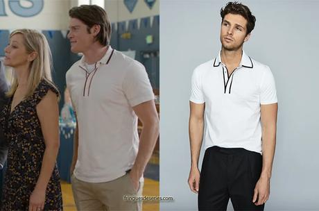 13 REASONS WHY : Peter Standall's white polo shirt (similar)  in S4E10