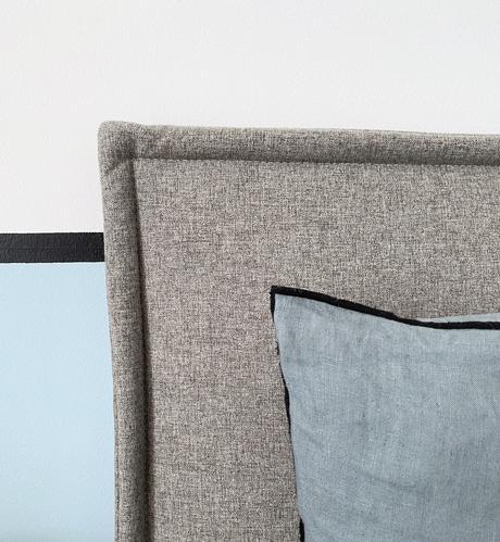 avis tête de lit Tediber gris rembourré fine confort coton lin