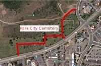 La traversée du cimetière …