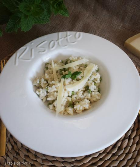Risotto petits pois menthe