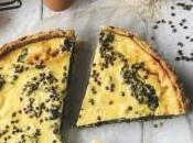 Quiche ricotta épinard graines chanvre toastées
