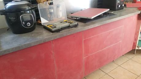 Ppeinture meuble cuisine stratifié avant après Tuto customiser meuble