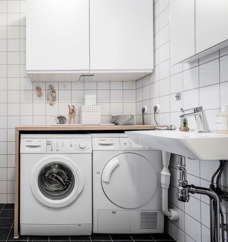 appartement Linné blog déco buanderie salle de bain gain de place
