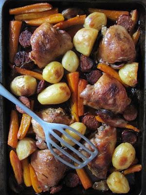 Cuisses de poulet à l'herbe à curry