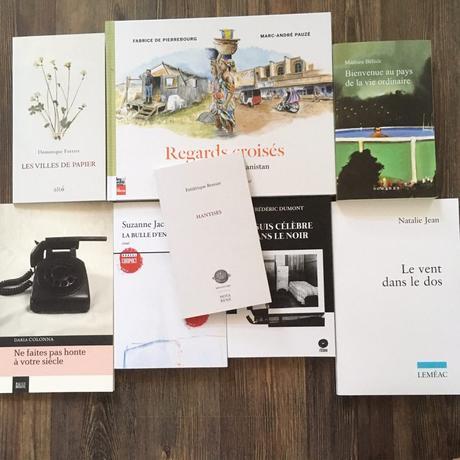 Le 12 août 2020, j'ai acheté 8 livres québécois!