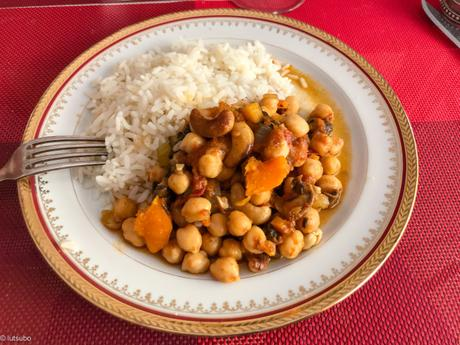 India everywhere – Curry de pois chiches aux champignons et patate douce