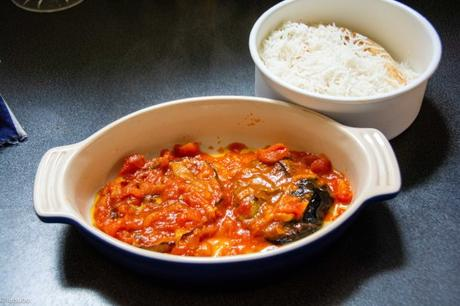 Un reste… – Gratin d'aubergine au riz